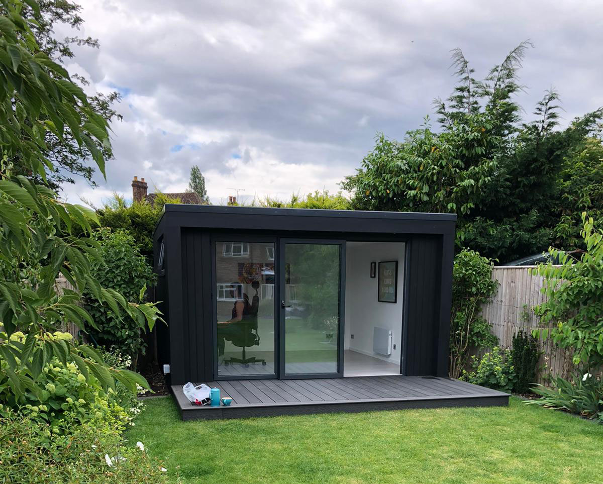 Bespoke Black Cladding for Your Garden Room