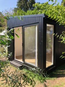 Garden room with black cladding